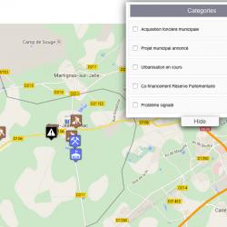Visualiser les décisions municipales :  la cartographie d'informations citoyennes